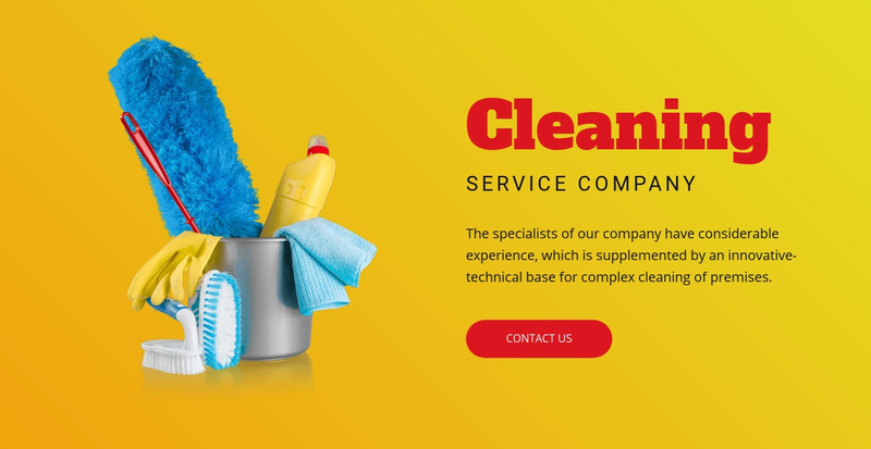 Flexible cleaning plans Web Page Design