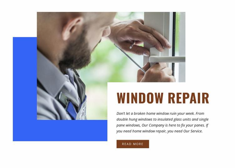 Window repair Website Template