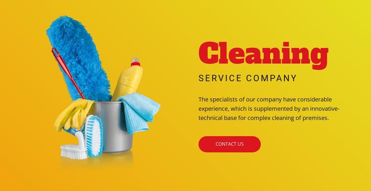 Flexible cleaning plans WordPress Website Builder
