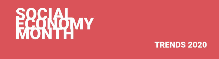 Social economy trends  Website Mockup