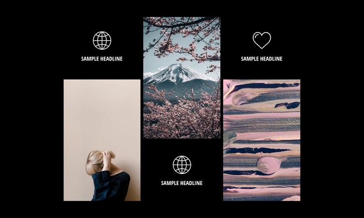 Modern photography gallery Website Builder Software