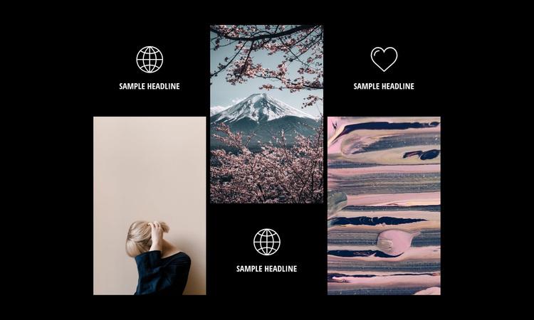 Modern photography gallery Website Design