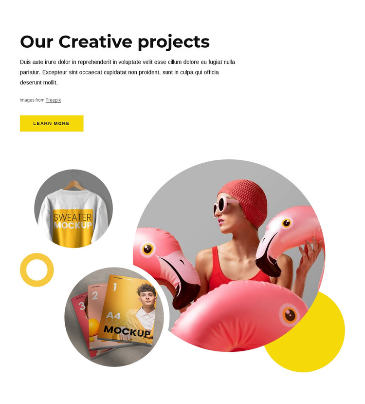 Our creative projects WordPress Theme