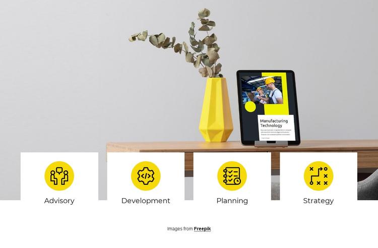 We build experiences Joomla Template