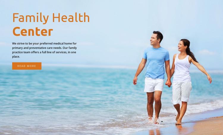 Family health center  HTML Template