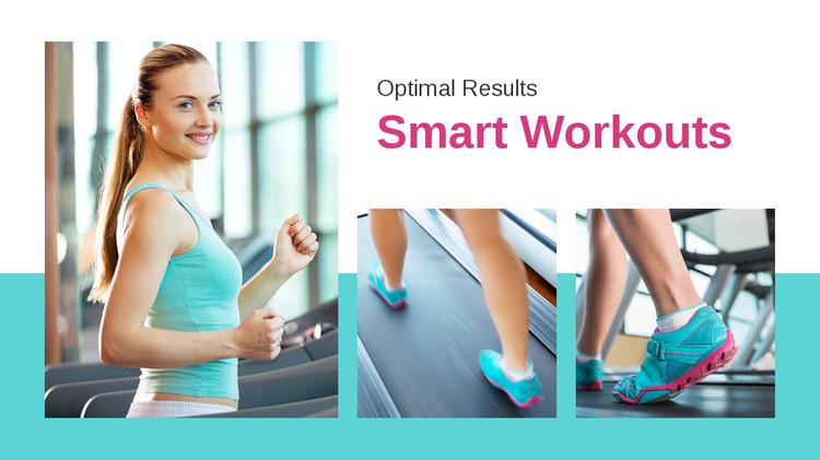 Sport workout plan HTML Template