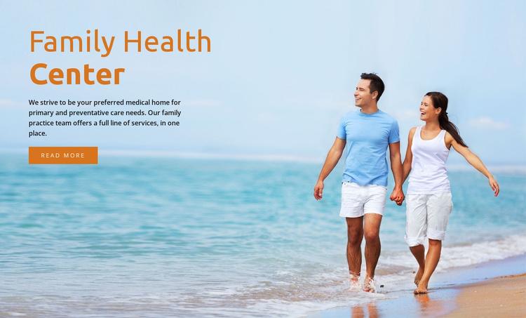 Family health center  Website Template