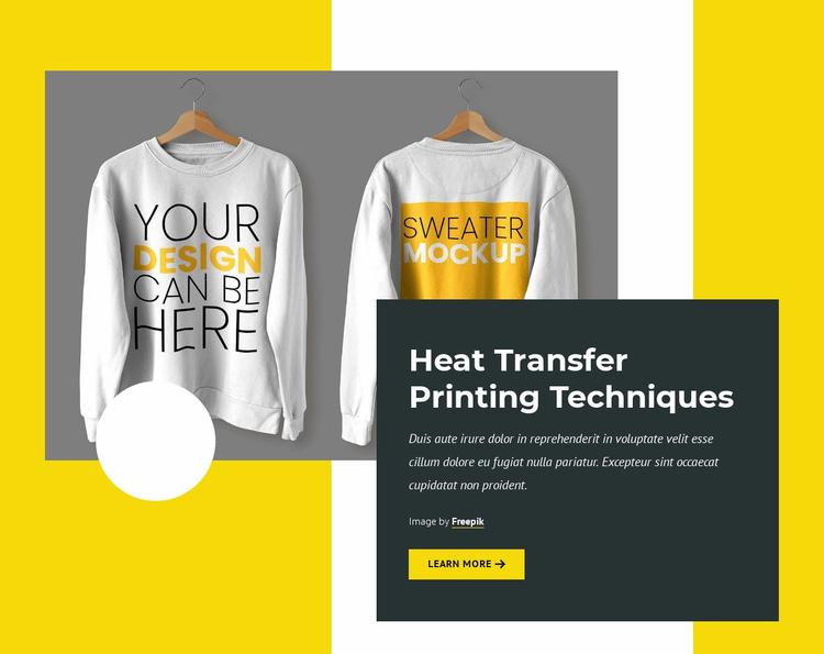 Printing technologies Website Template