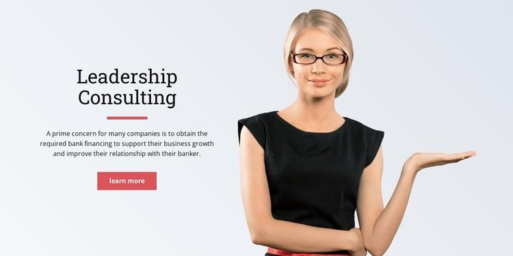 Executive leadership CSS Template