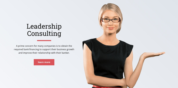 Leadership consulting  Html Website Builder