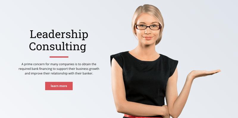 Executive leadership Web Page Design