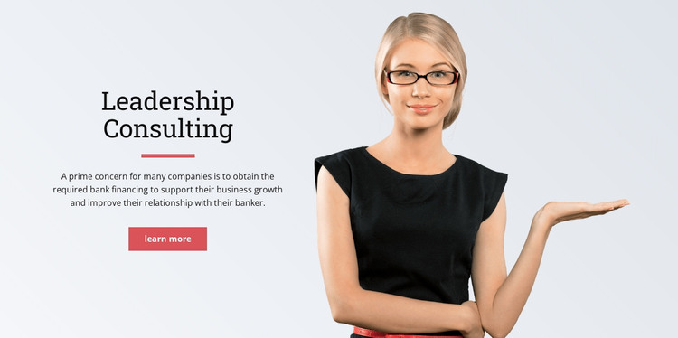 Executive leadership WordPress Theme