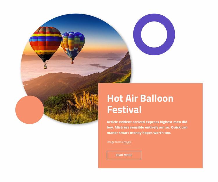Hot air ballon festival Website Design