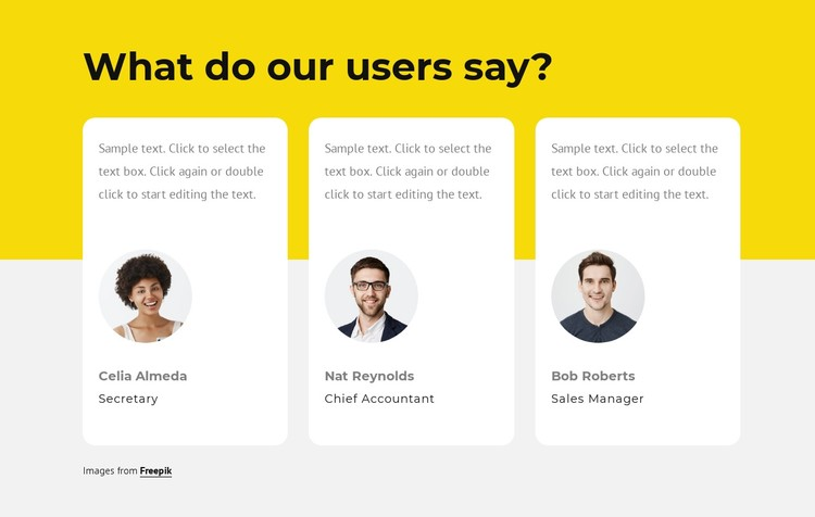Our clients reviews CSS Template
