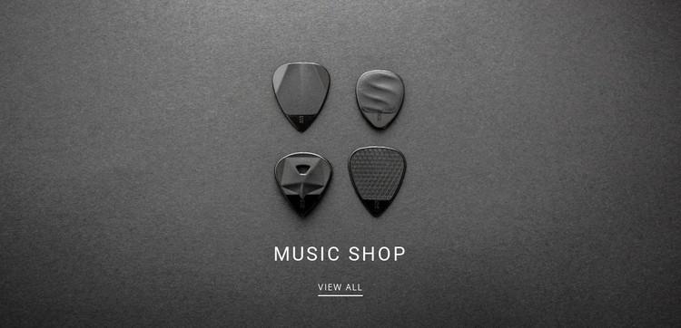 Music shop Static Site Generator