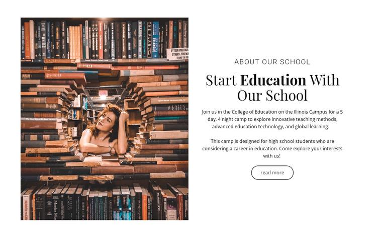 Elementary education Website Builder Software