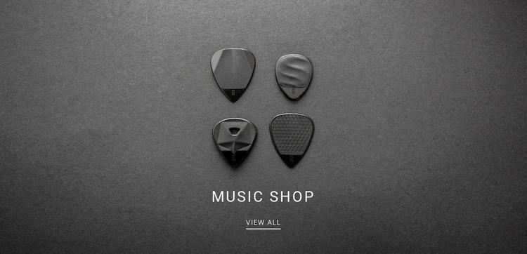 Music shop Website Builder Software