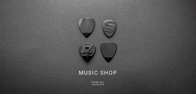 Music shop Website Design