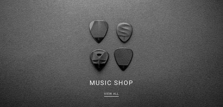 Music shop Landing Page
