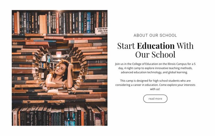 Elementary education WordPress Website Builder