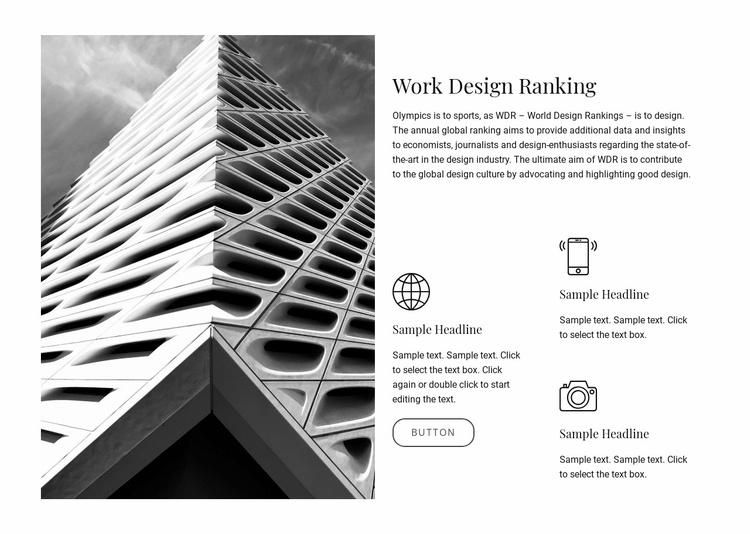 Work design ranking Website Template