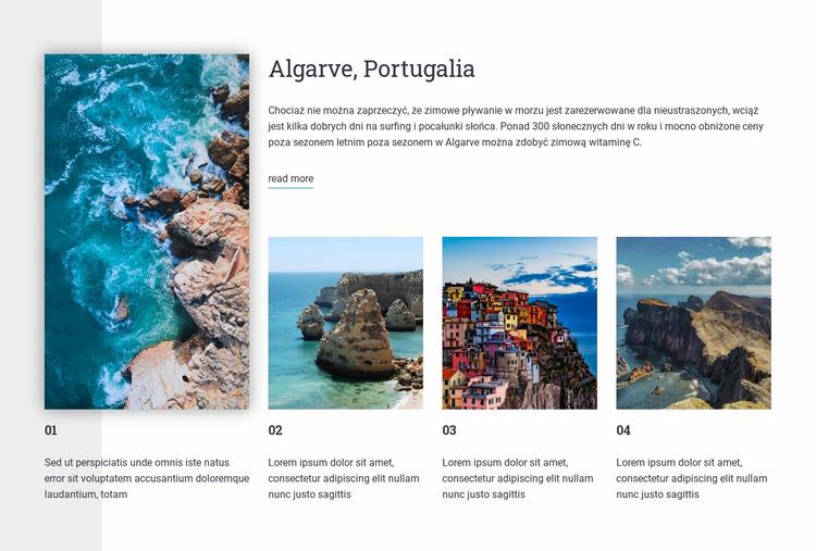 Przewodnik turystyczny po Portugalii Szablon Joomla