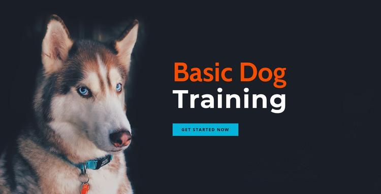 Online dog training academy HTML Template