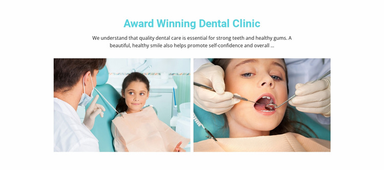 Kids dental care WordPress Website Builder
