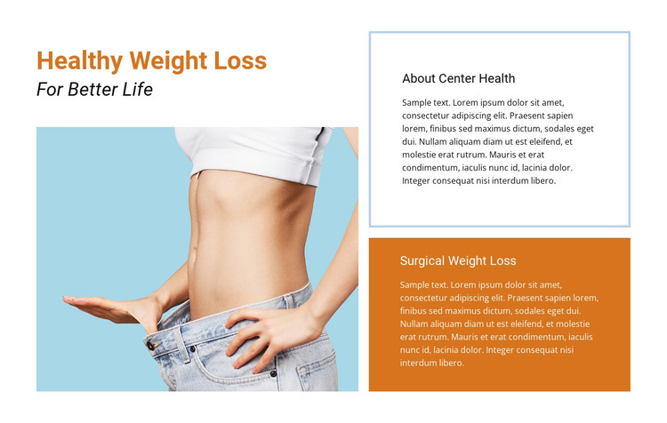 Healthcare and losing weight HTML Template
