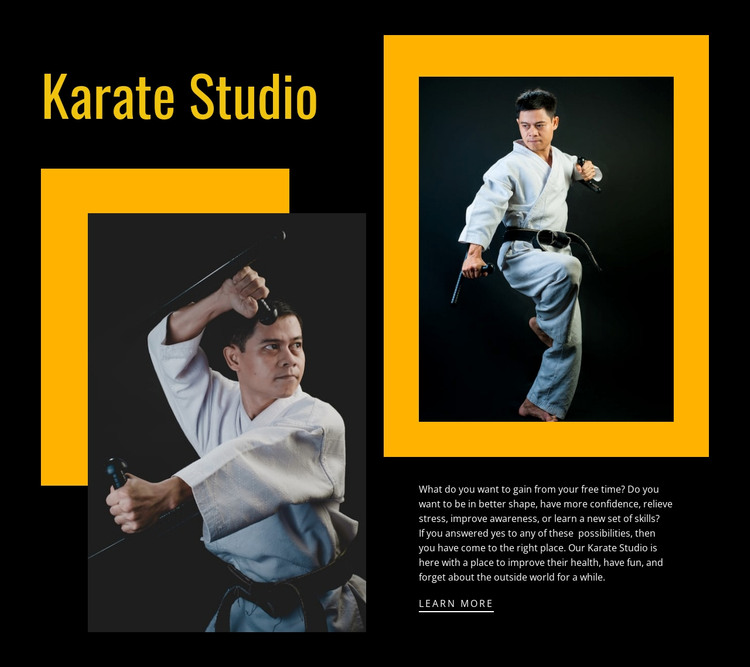 Sport karate studio Web Design