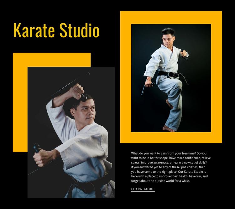 Sport karate studio Website Template