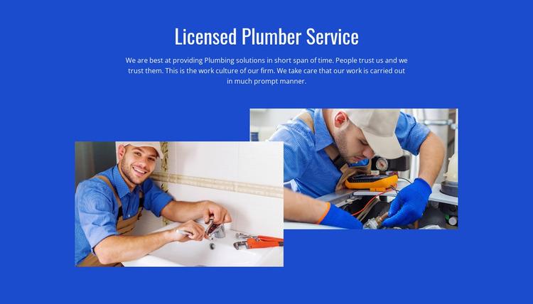 Innovative plumbing service WordPress Website Builder