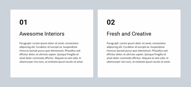 Awesome interiors Website Design