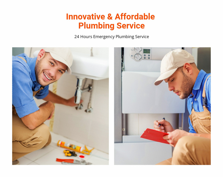 Affordable plumbing service Website Template