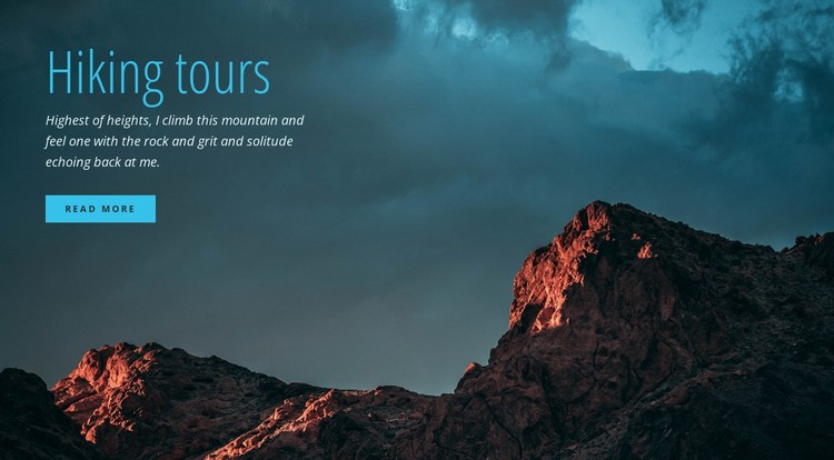 Guided hiking trips CSS Template
