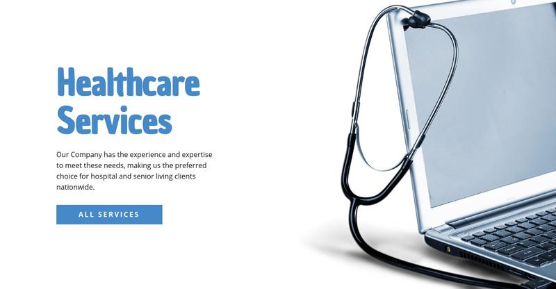 Healthcare Services Web Page Design