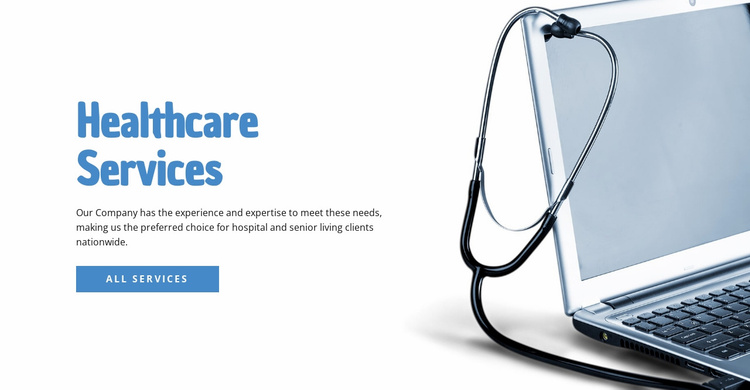 Healthcare Services Landing Page