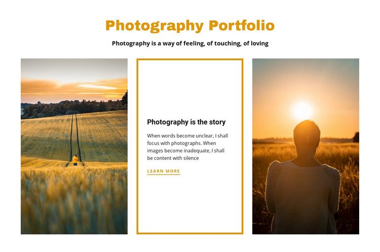 Photography portfolio Joomla Template