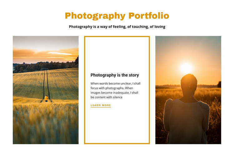 Photography portfolio Website Mockup