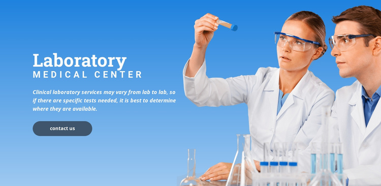 Llaboratory medical center Website Template
