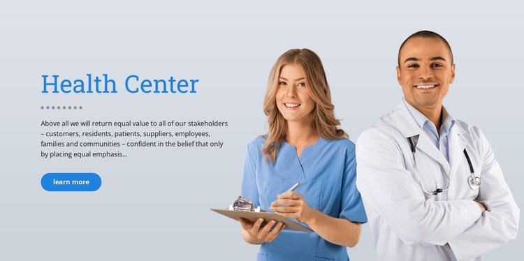 Health Care Website Template