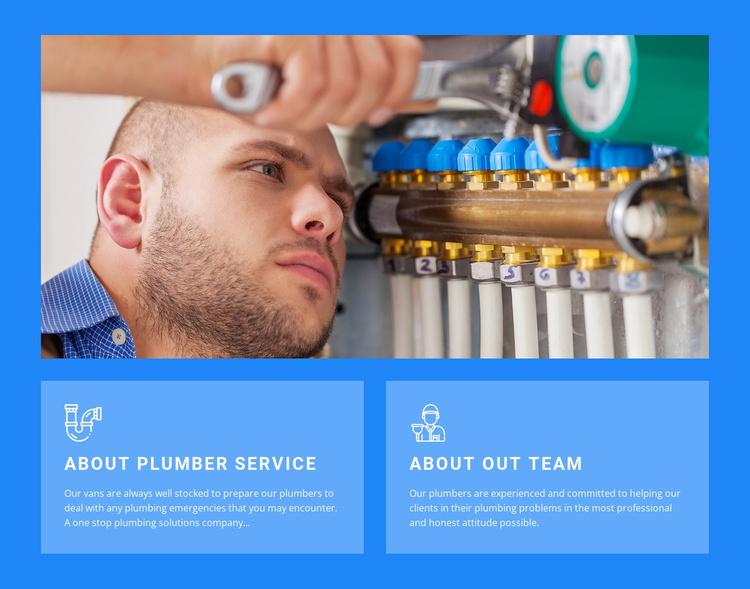 Book plumbing services Website Template