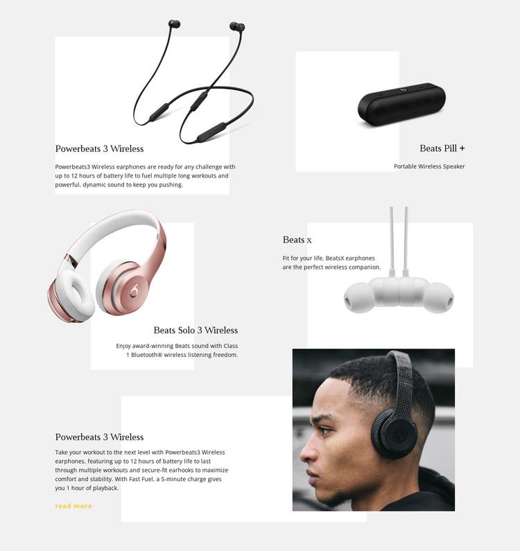 Music Wireless Technology HTML Template