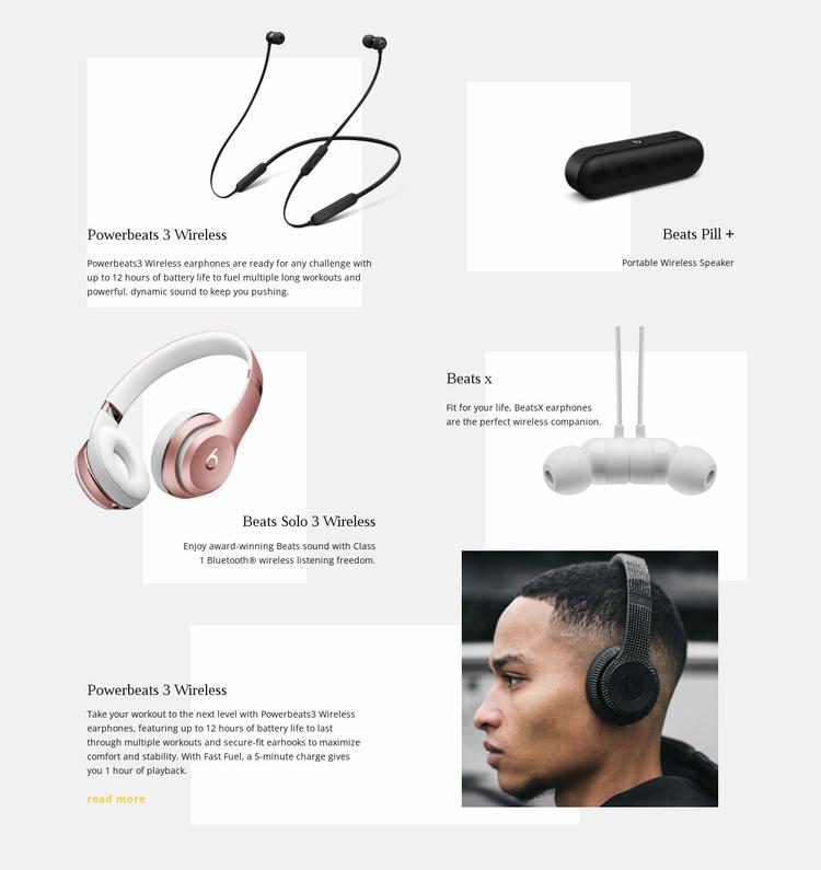Music Wireless Technology Website Template