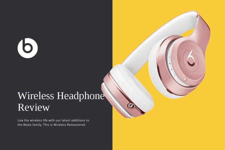 Wireless headphones reviews WordPress Theme