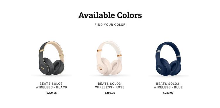 Modern headphones Template
