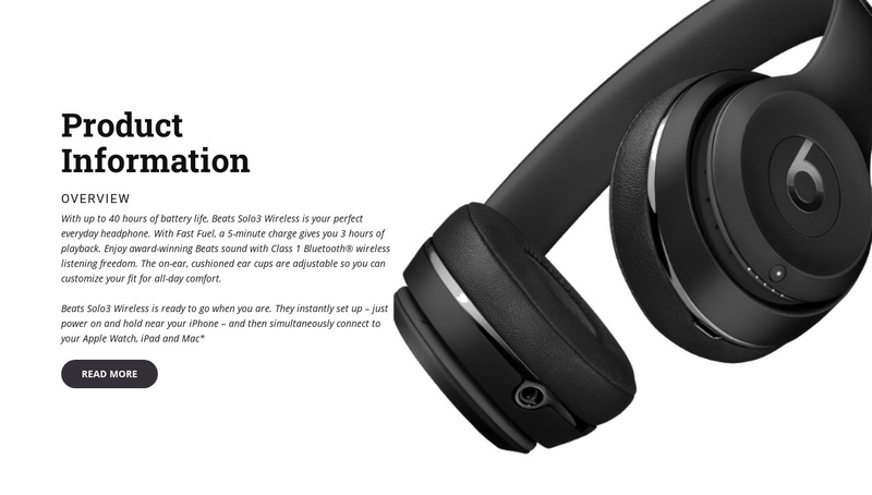 Headphones for listening to music Web Page Designer
