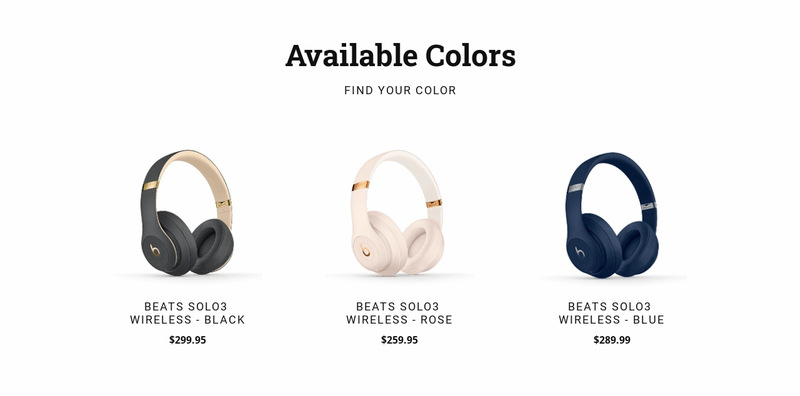 Modern headphones Web Page Designer