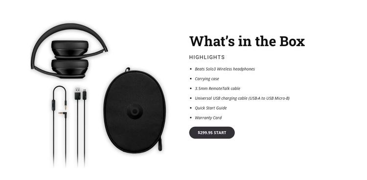 Beats wireless headphones Website Builder Software