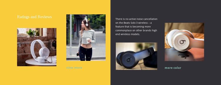Headphones for students Website Template